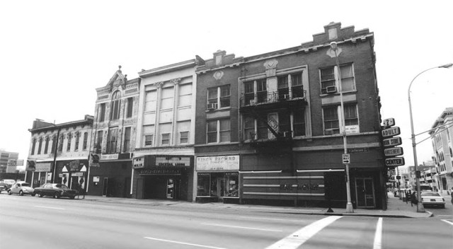 "Louisville's old ""Porno Block"" in 1987. (Joanne Weeter / National Trust)"