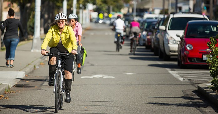 Alki Avenue, Seattle. (Courtesy People for Bikes)