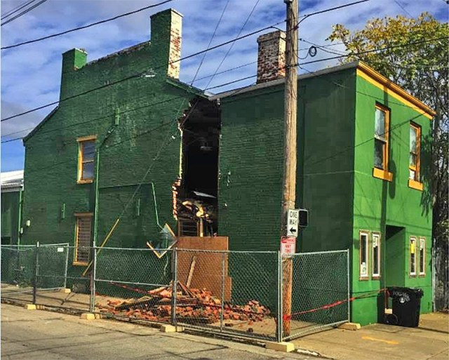 The building this week after a partial collapse. (Courtesy Tipster)