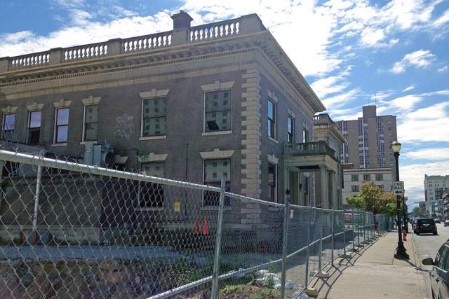 The Water Company Building in early October. (Branden Klayko / Broken Sidewalk)