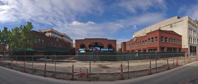 Theater Square just before demolition began. (Branden Klayko / Broken Sidewalk)
