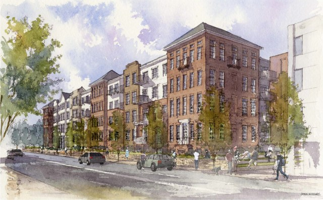 The 200-unit Mercy Apartments have already been approved. (Courtesy Edwards Companies)