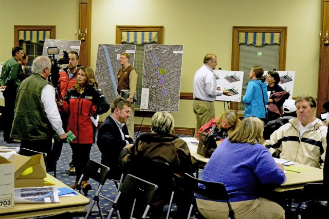 The recent public meeting about changed along Chenoweth Lane. (Courtesy KYTC)