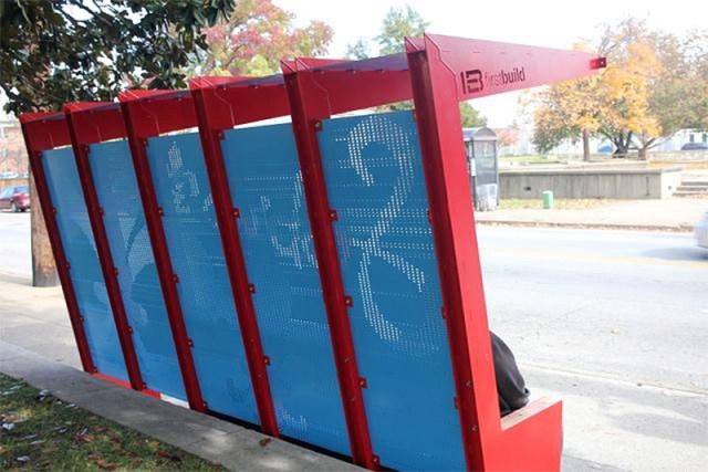 SoBro's new bus stop. (Mary Beth Brown)