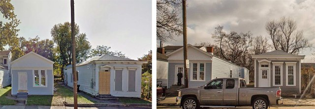 Before and after along 17th Street. (Courtesy PII)