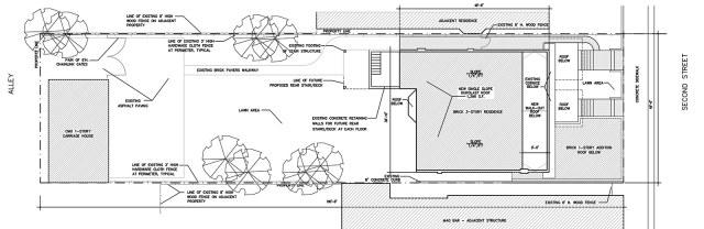 The Dillon House site plan. (Courtesy Victorian Louisville)