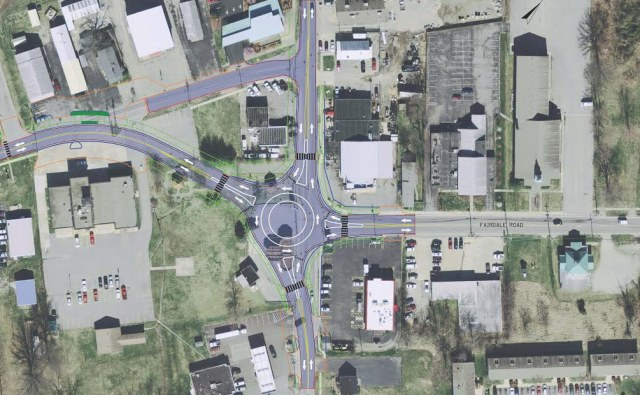 Plan for the Fairdale roundabout. (Courtesy KYTC)