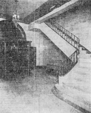 Stairwell in the Fincastle Building when it opened in 1928. (Hesse Photographer)