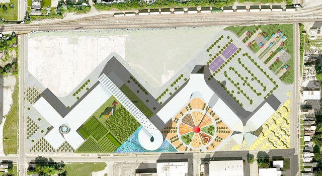 OMA's site plan for the West Louisville FoodPort. (Courtesy Seed Capital KY)