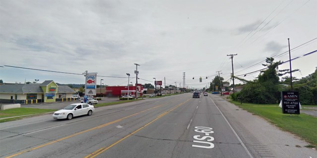 The area on Dixie Highway near where the collision took place. (Courtesy Google)