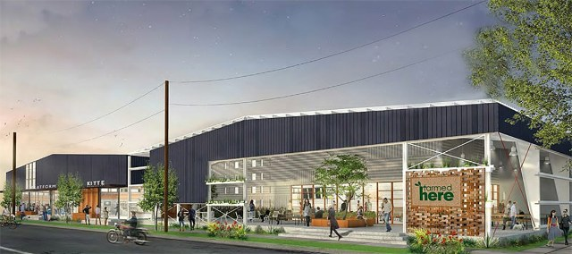 A rendering of the proposed indoor farm. (Courtesy FarmedHere)