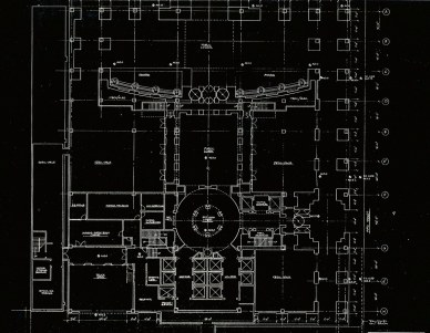 An original floor plan of the tower shows it was designed with retail space.