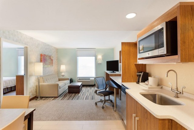 An example of a hotel room at Home2 Suites. (Courtesy Home2 Suites)