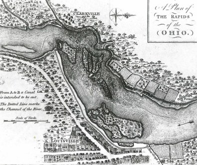 A map of Louisville in the 1780s.