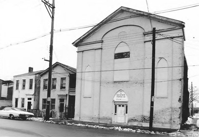The church shown boarded up in March 1980. (High Foshee / NRHP)