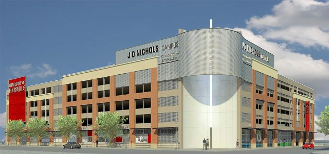 Rendering of the parking garage. (Courtesy Nucleus)