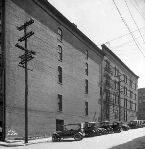 The Eighth Street facade of today's Alexander Building viewed in 1925. (UL Photo Archives - Reference)