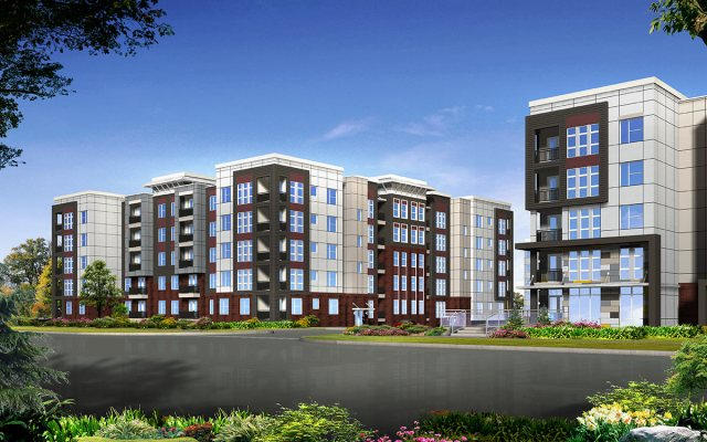 Rendering of the Axis Apartments on Lexington Road. (Courtesy Cityscape Residential)