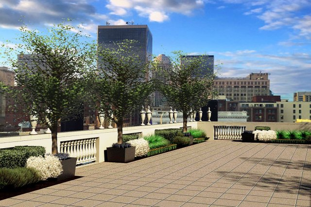 Rendering of the new rooftop. (Courtesy Brown Hotel)