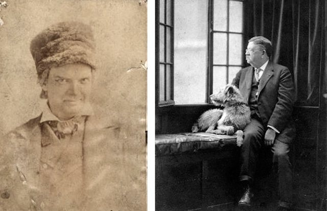 "Bernard ""Barney"" Macauley, left, and his brother ""Colonel"" John Macauley, right, with one of his beloved dogs. (Courtesy UL Archives - Reference, Reference)"