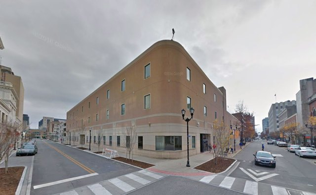 The old J.C. Penney building was reclad with EIFS and made into an office building. (Via Google)