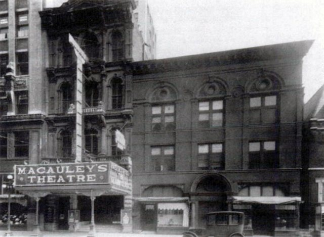 Macauley's Theater in the 1920s. (Courtesy Encyclopedia of Louisville)