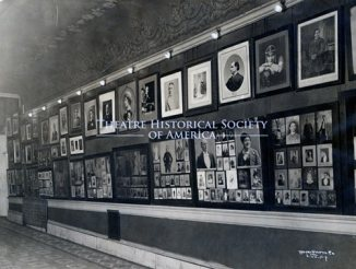 Lobby of Macauley's Theater showing an extensive collection of John T. Macauley. (Courtesy Theatre Historical Society of America archive)