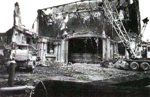 The Rialto under demolition. (Courtesy Old Lou Guide)