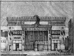 A drawing of the Rialto Theater by Joseph & Joseph Architects. (Courtesy UL Archives - Reference)