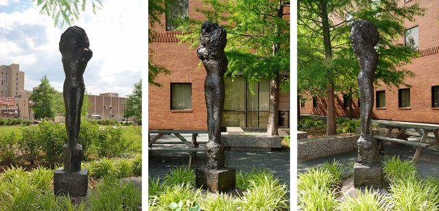 """Reg Butler's """"The Bride"""" today stands next to the Metro Development Center on Fifth Street. (Courtesy Metro Louisville)"""