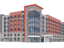Rendering of the proposedl Floyd Street Cambria Hotel. (TBD+ Architects / Cambria Hotels)