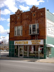 The Puritan Uniform Rental Building. (Branden Klayko / Broken Sidewalk)