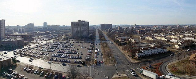 The Ninth Street Divide from the top of the Zirmed Tower circa 2009. (Branden Klayko / Broken Sidewalk)