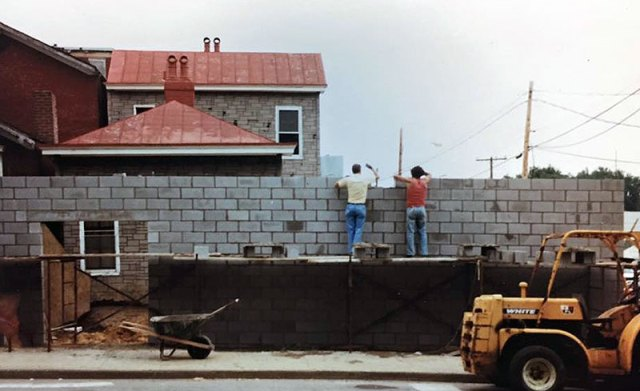 Ackerman Millworks under construction in 1982. (Courtesy Three Points)