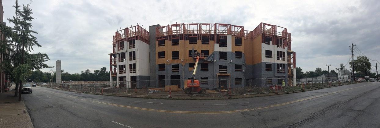 The Axis Apartments on Lexington Road. (Branden Klayko / Broken Sidewalk)