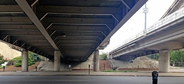 The Louisville Knot will be installed on the south side of Main Street, seen here. (Branden Klayko / Broken Sidewalk)