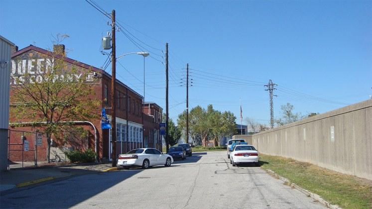 Looking west on Rowan toward 13th Street. (Branden Klayko / Broken Sidewalk)