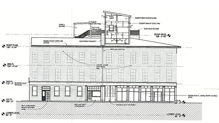 Building elevation. (Joseph & Joseph Architects)