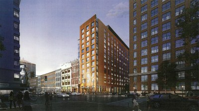 Dual hotel tower a grand exclamation point for Whiskey Row's final development