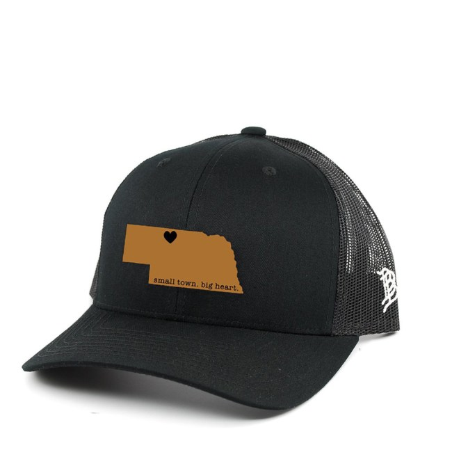 handmade in nebraska, nebraska, leather, hat, cap, trucker, tees, souvenirs