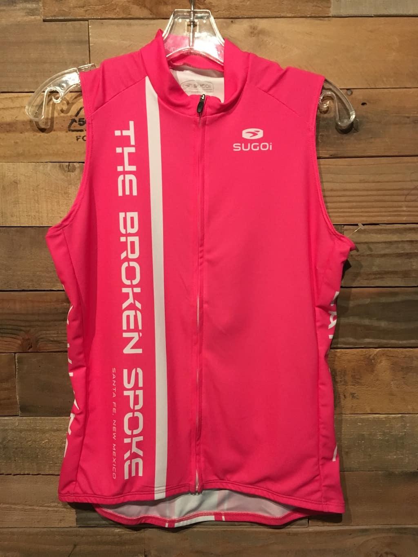 Sugoi Broken Spoke Sleeveless Pink Jersey Women's