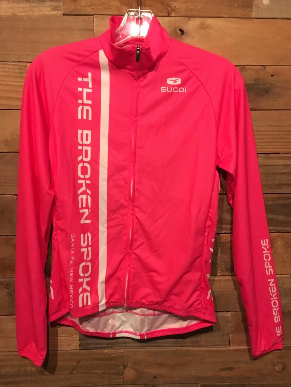 Sugoi Broken Spoke Long Sleeve Pink Jersey Women's