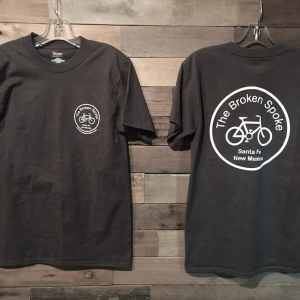 Men's Broken Spoke T-Shirt Logo Front & Rear Charcoal