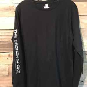 Broken Spoke Long Sleeve T-Shirt, Men's Black