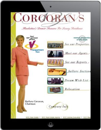 Barbara Corcoran Real Estate Website, December 2nd, 1998