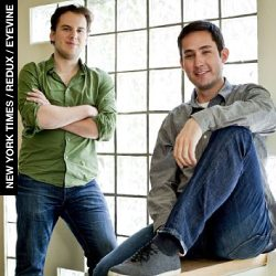 Billion dollar brains: Instagram founders Mike Krieger, left, and Kevin Systrom