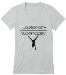 Fitness for health and fitness, not superficiality