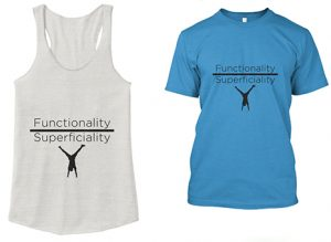 Fit for Life Tanks and Shirts for functional and calisthenic athletes, yoga, and gymnastics