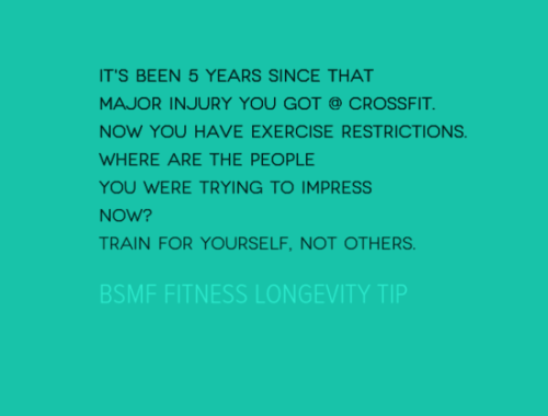 Fitness Longevity Tip: Train for Yourself, Not for Others