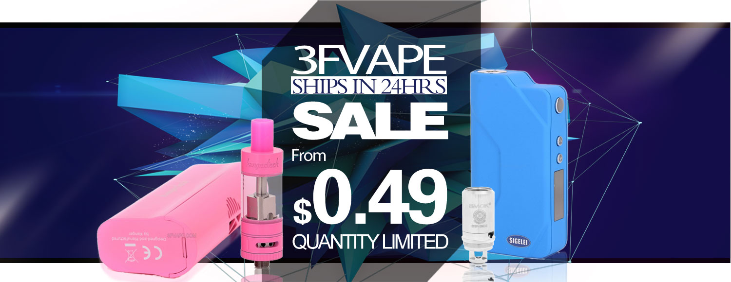 "3FVape ""Ships in 24 Hours"" Sale"